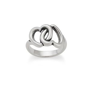 New James Avery double Heart Ring